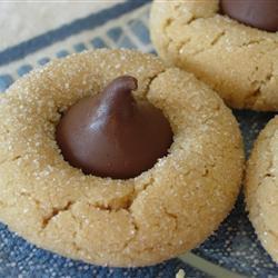 Botones de cacahuate y chocolate