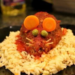 Ratones de carne en sangre de jitomate