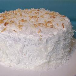 Pastel cremoso de coco
