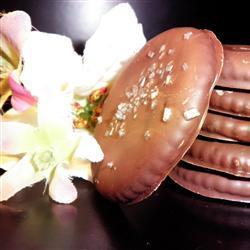 Galletas saladas con chocolate y menta