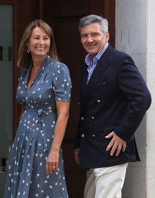 Carole. Middleton, Michael Middleton, padres de Kate Middleton