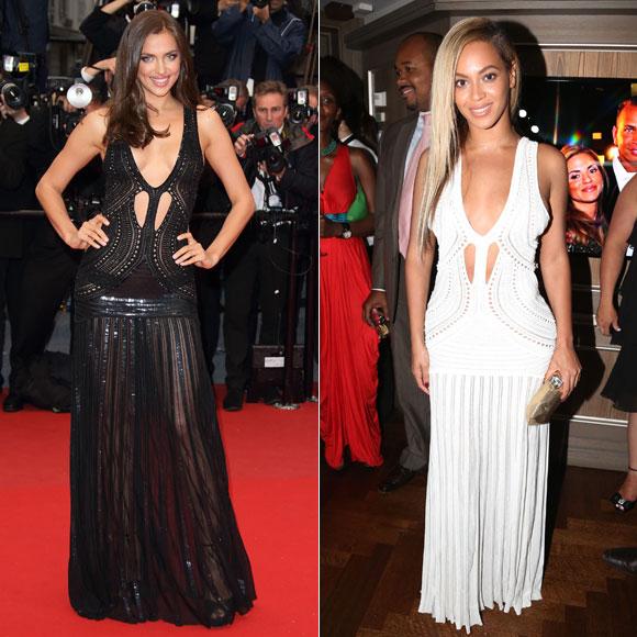 Irina Shayk, Beyoncé, Dos mujeres un vestido