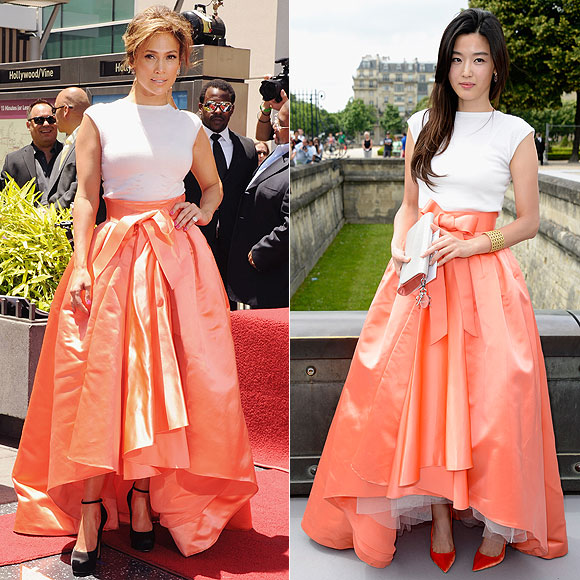Jennifer López, Jun Ji-Hyun, Dos mujeres un vestido
