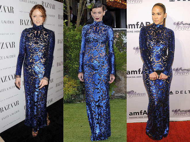 Lily Cole, Liberty Ross, Jennifer López, Dos mujeres
