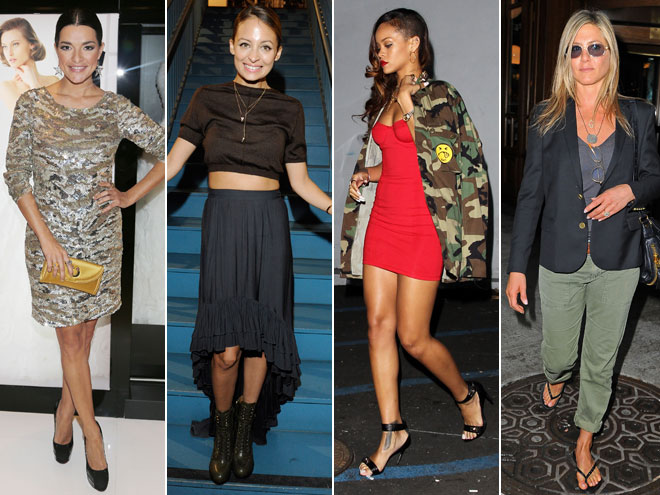 Candela Ferro, Nicole Richie, Rihanna, Jennifer Aniston
