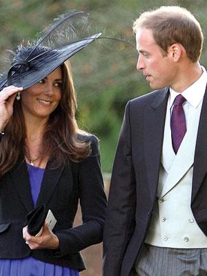 El príncipe Guillermo y su novia Kate Middleton