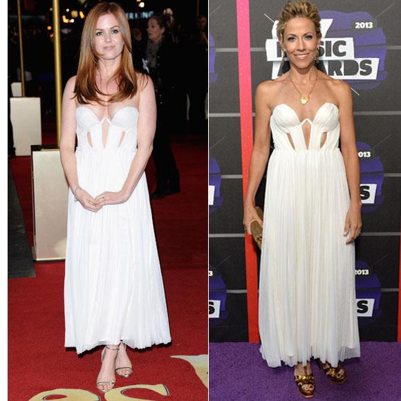 Isla Fisher, Sheryl Crow, Dos mujeres un vestido