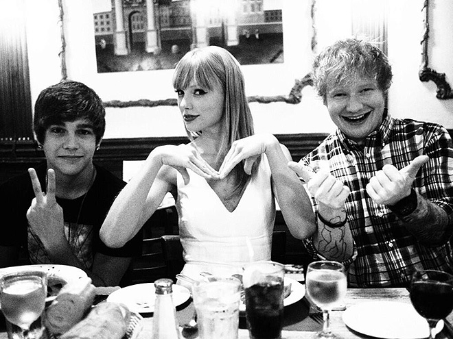 Taylor Swift, Austin Mahone, Ed Sheeran