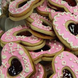 Sándwiches de galleta en forma de corazón