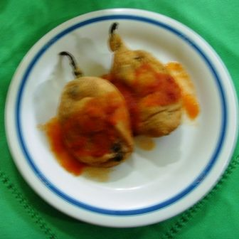 Chiles rellenos de chicharrón