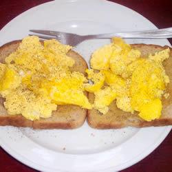 Huevos revueltos en el horno