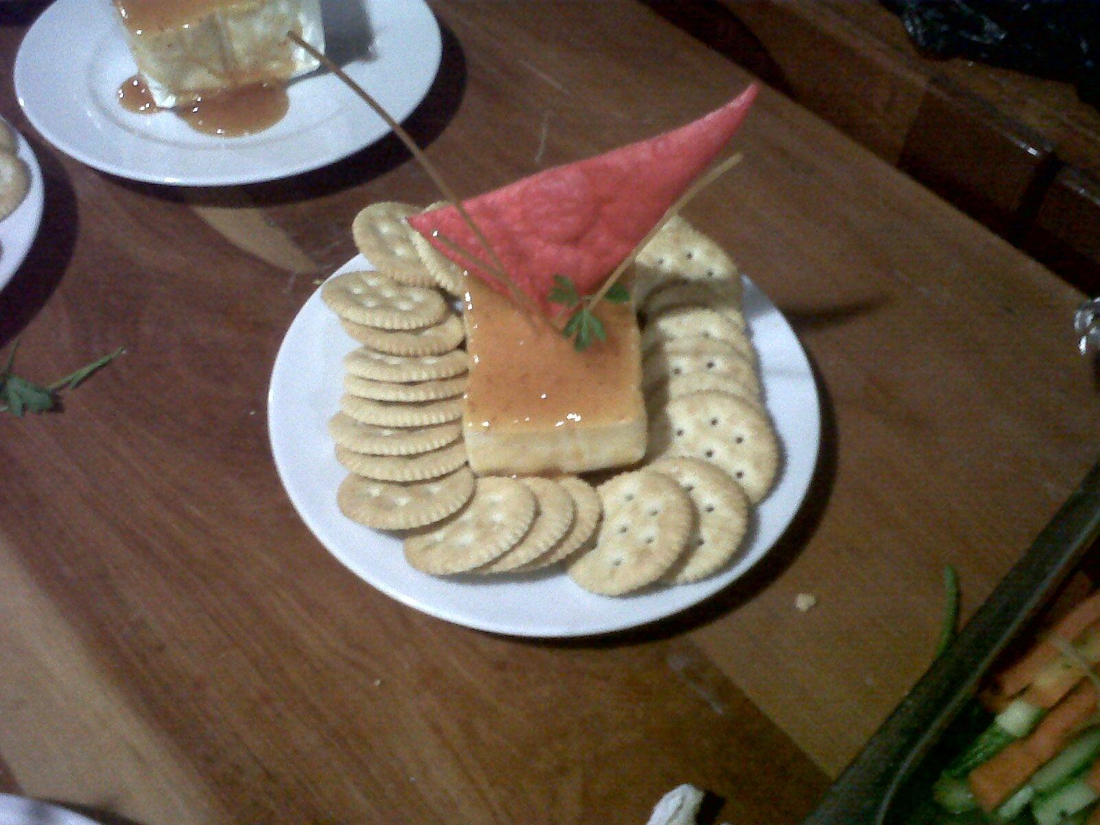 Dip de queso crema con chabacano y chipotle