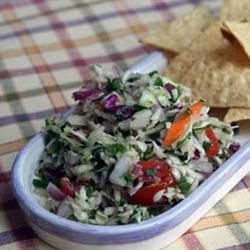 Salsa mexicana con col