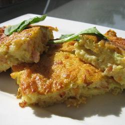 Torta de huevo y calabacita
