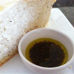 Aceite de oliva con vinagre y queso
