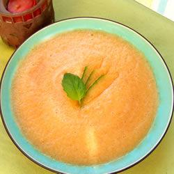 Sopa fría de melón y naranja