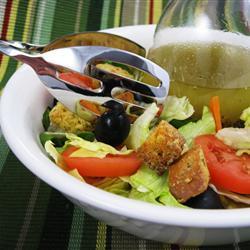 Aderezo de ensaladas tipo restaurante italiano