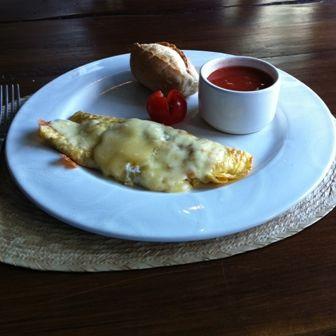Omelette con pimiento
