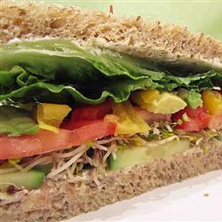 Sándwich de pepino