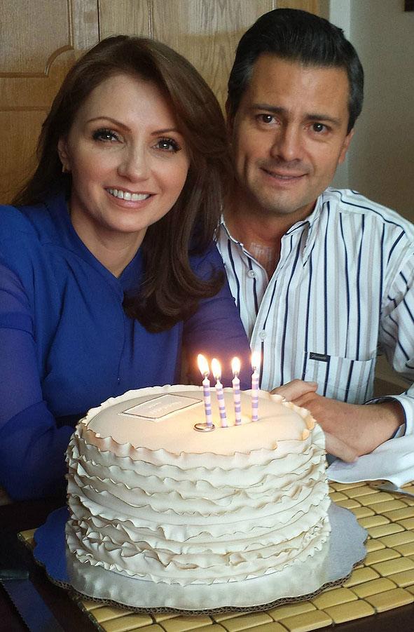 Angélica Rivera, cumpleaños, Enrique Peña Nieto
