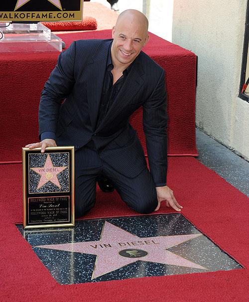Vin Diesel, estrella, paseo de la fama