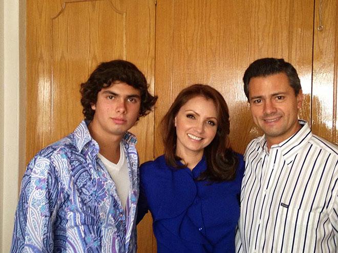 Angélica Rivera, Alejandro Peña Pretelini, Enrique Peña Nieto