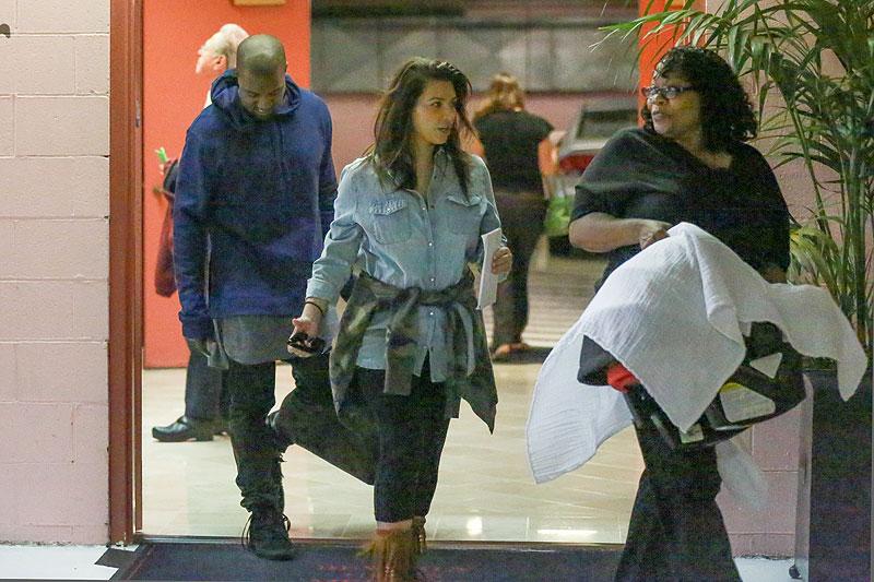 Kim Kardashian, Kanye West, North, Míralos