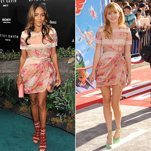 JADA PINKETT SMITH, Bella Thorne, dos mujeres un vestido