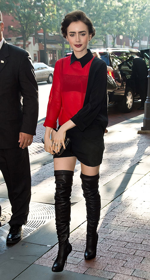 Lily Collins, El look del día