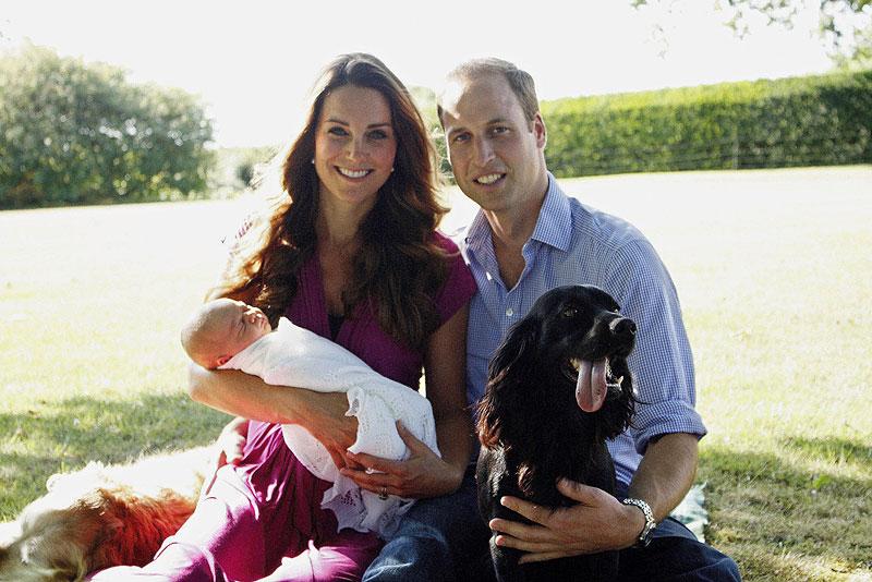 Príncipe William, Kate Middleton, Príncipe George, Míralos