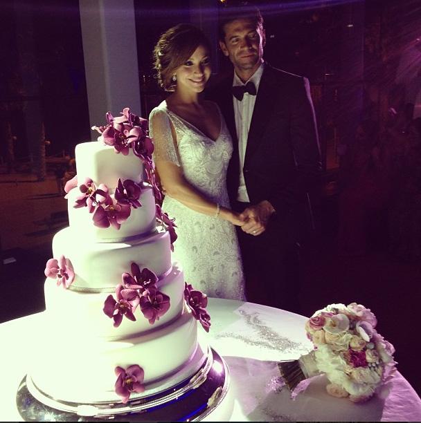 Satcha Pretto, boda, Aaron Butler