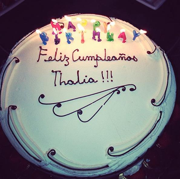 Thalía, cumpleaños, 42, festejo, celebración