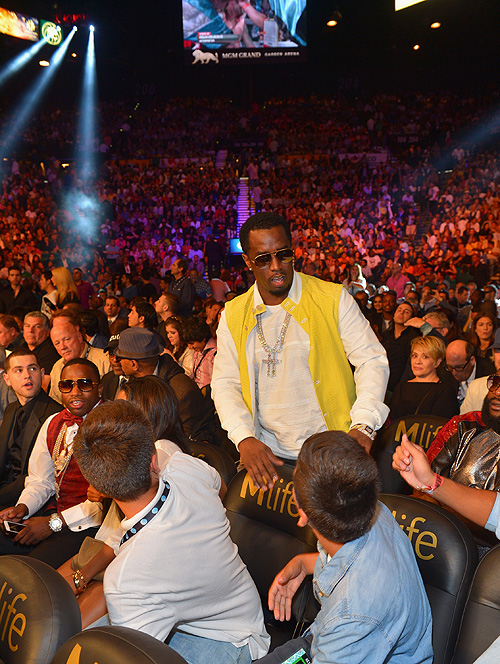 Canelo, Mayweather, pelea, fight, P. Diddy, Sean Combs