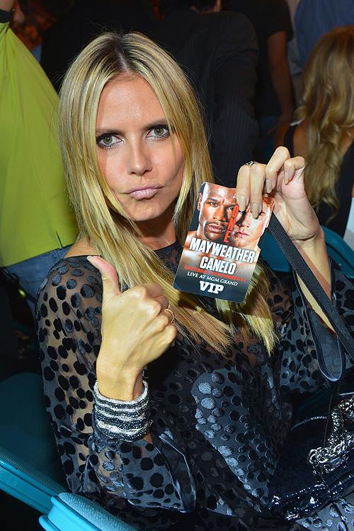 Canelo, Mayweather, pelea, fight, Heidi Klum