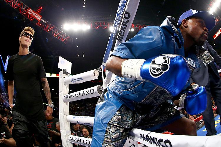 Canelo, Mayweather, pelea, fight, Justin Bieber