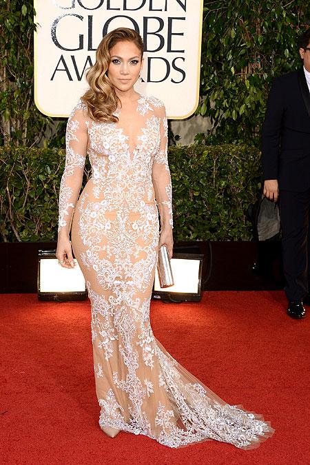 Jennifer Lopez, alfombra Annual Golden Globe Awards