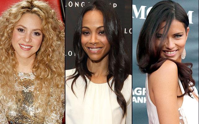 Shakira, Zoe Saldaña, Adriana Lima