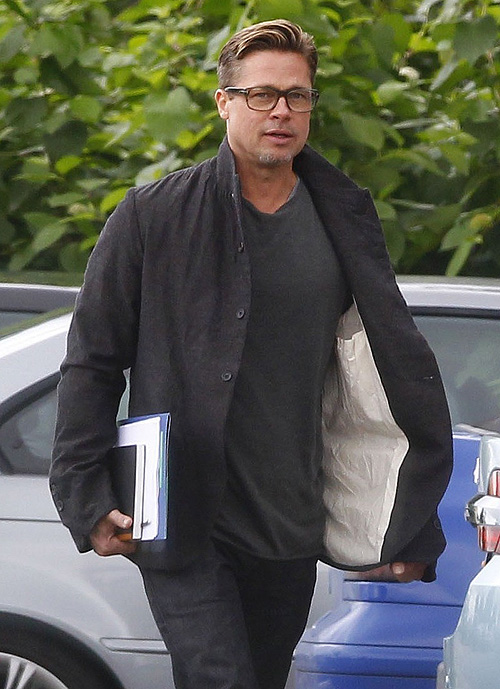 Brad Pitt, Londres, set, miralos