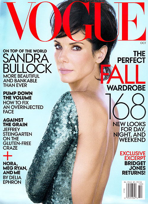 Sandra Bullock en la portada de Vogue
