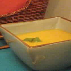 Sopa de calabaza en microondas