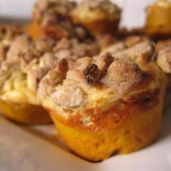Muffins de calabaza con queso crema