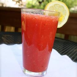Agua de sandía, fresa y limón