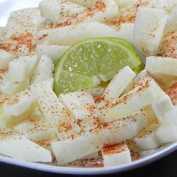 Jícama con chile