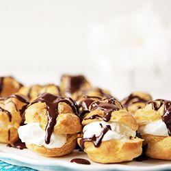 Choux con crema y chocolate (Profiteroles)