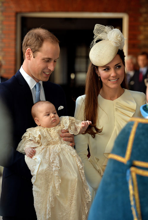 Príncipe George, príncipe William, Kate Middleton, Bautizo real