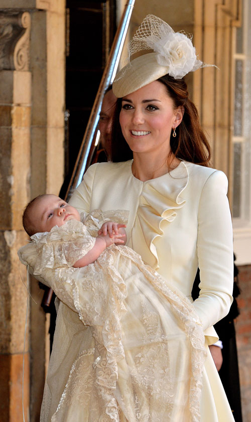 Kate Middleton, príncipe George, bautizo real