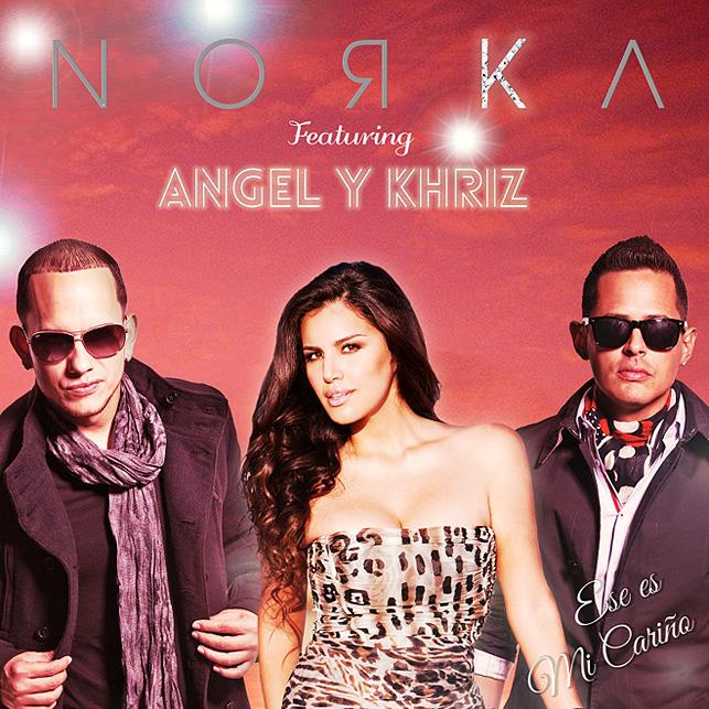 Norka con Angel y Khriz