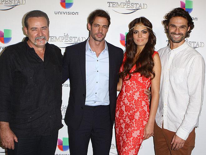 César Évora, William Levy, Ximena Navarrete, Iván Sánchez, La tempestad