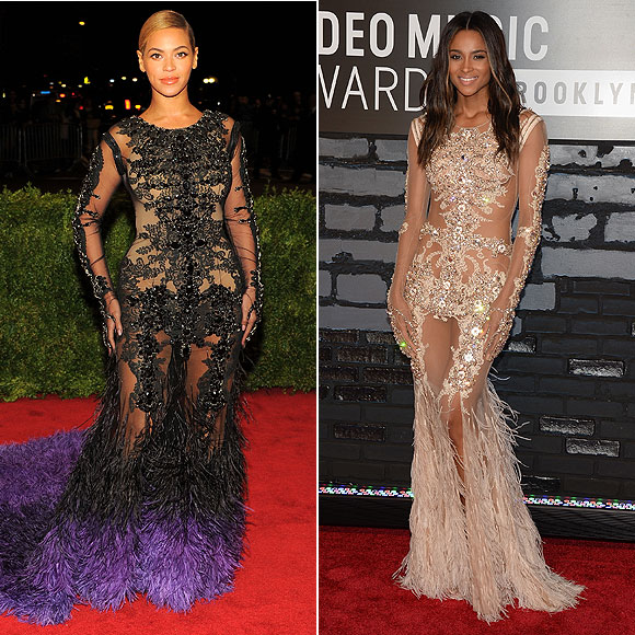 BEYONCÉ, CIARA, dos mujeres un vestido