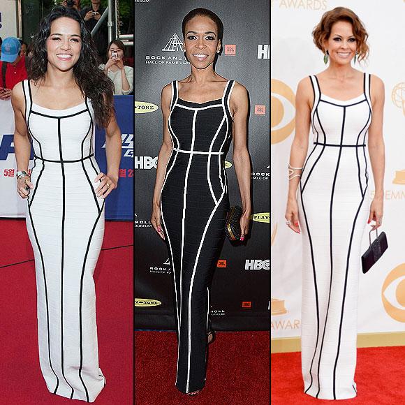 Michelle Williams, Michelle Rodríguez, Dos mujeres un vestido, Brooke Burke